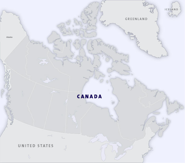 Small Map Of Canada.Map Of Canada